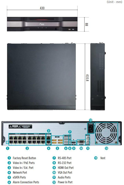 Afmetingen DR-6200PS-S serie